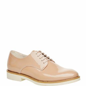 Chaussure lacée en cuir verni vagabond, Jaune, 528-8006 - 13