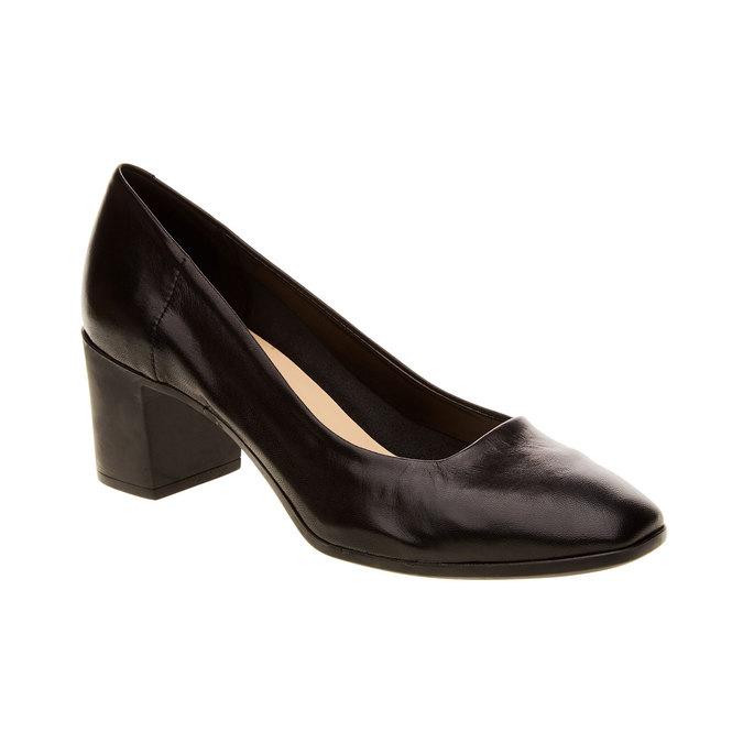 Escarpins en cuir flexible, Noir, 624-6706 - 13