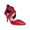 Escarpin en cuir rouge avec lanières sur l'empeigne bata, Rouge, 724-5369 - 13