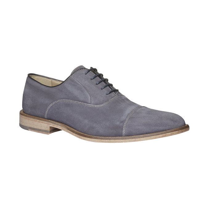 Chaussure lacée Oxford en cuir shoemaker, Gris, 823-2103 - 13