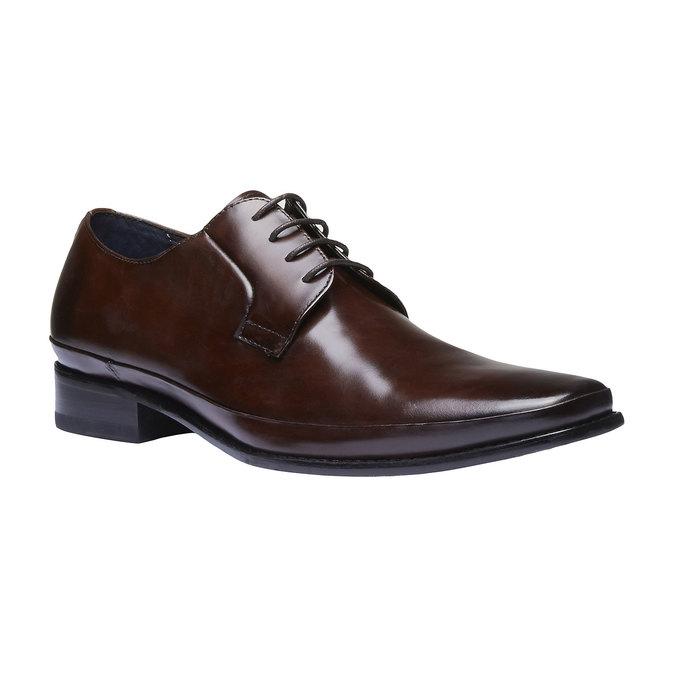 Chaussure lacée Derby en cuir bata, Brun, 824-4550 - 13