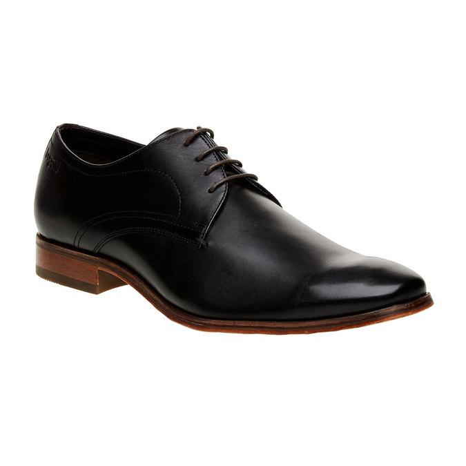 Chaussure lacée Derby en cuir bugatti, Noir, 824-6303 - 13