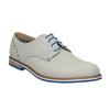 Chaussure lacée en cuir avec semelle colorée bata, Gris, 826-2839 - 13