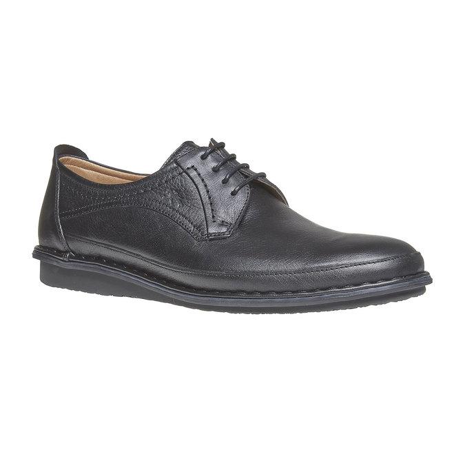 Chaussure lacée en cuir pour homme fluchos, Noir, 824-6866 - 13