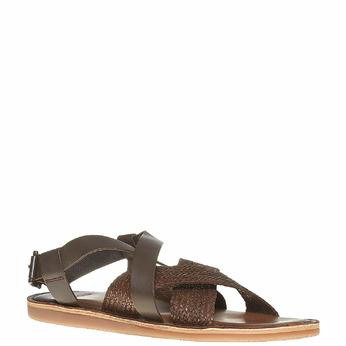 Sandale en cuir homme shoemaker, Brun, 864-4235 - 13