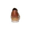 Chaussures en cuir à flatform bata, Brun, 524-3255 - 17