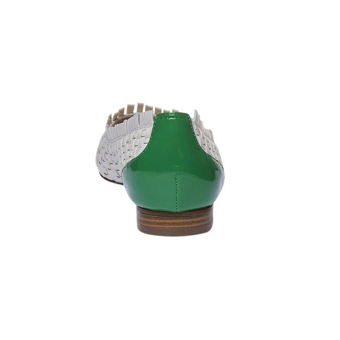 Ballerine pointue bata, Vert, 521-7472 - 17