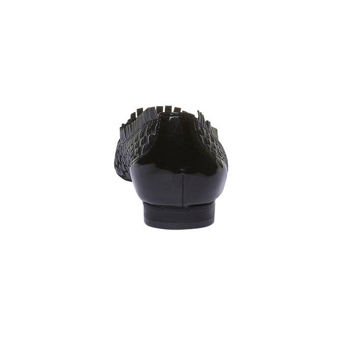 Ballerine pointue bata, Noir, 521-6472 - 17