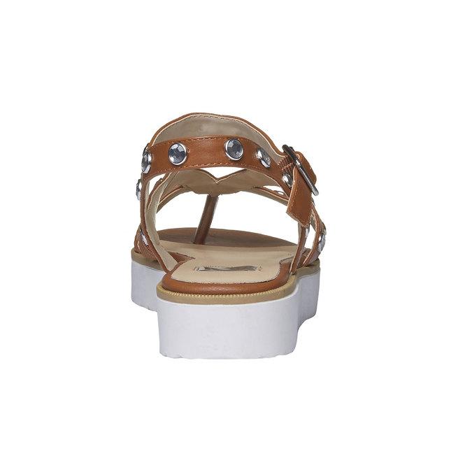 Sandale à lanières femme à semelle épaisse bata, Brun, 561-3225 - 17