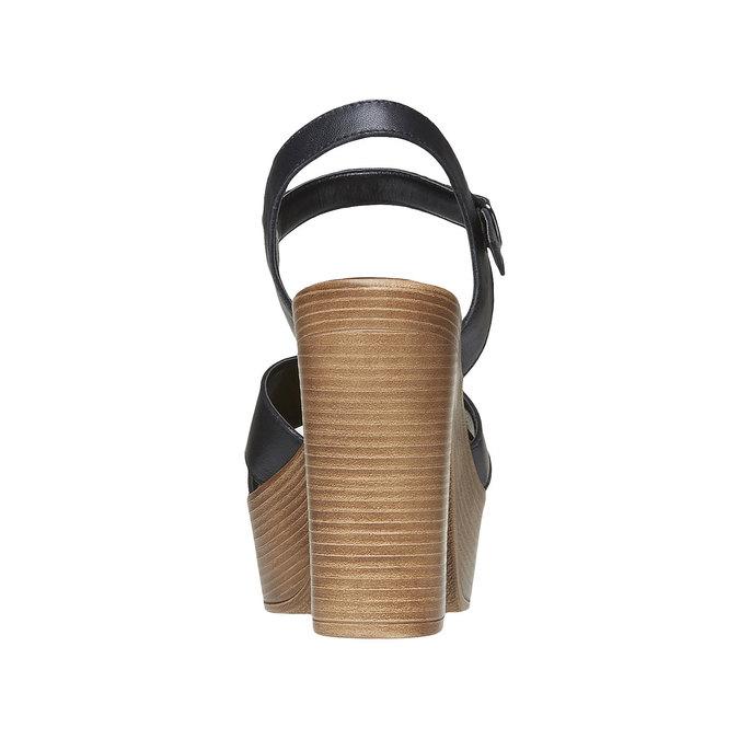 Sandale femme à talon massif bata, Noir, 764-6511 - 17