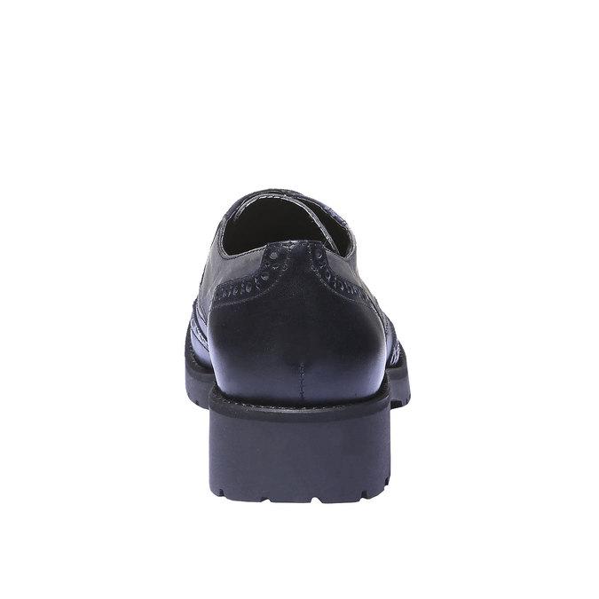 Chaussure lacée en cuir pour femme bata, Violet, 524-9135 - 17