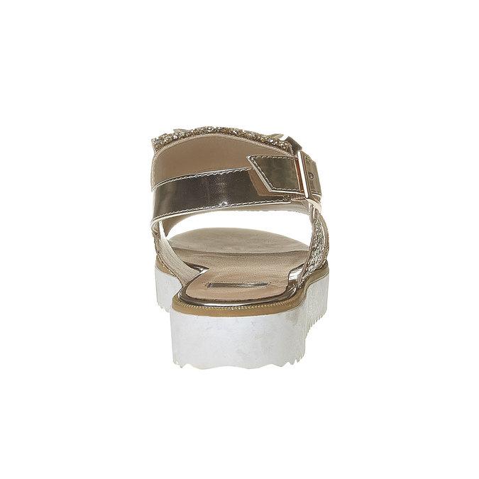 Sandale à paillettes et semelle épaisse bata, Jaune, 569-8390 - 17