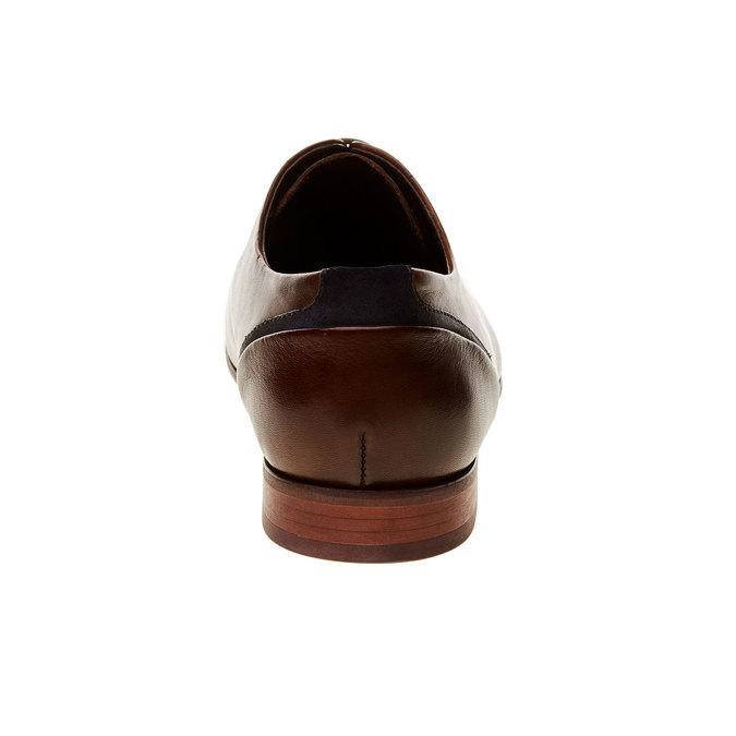 Chaussure lacée Derby en cuir bata, Brun, 824-4538 - 17