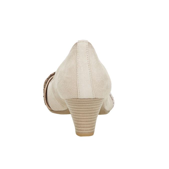 Escarpin en cuir pour femme gabor, Jaune, 626-8003 - 17