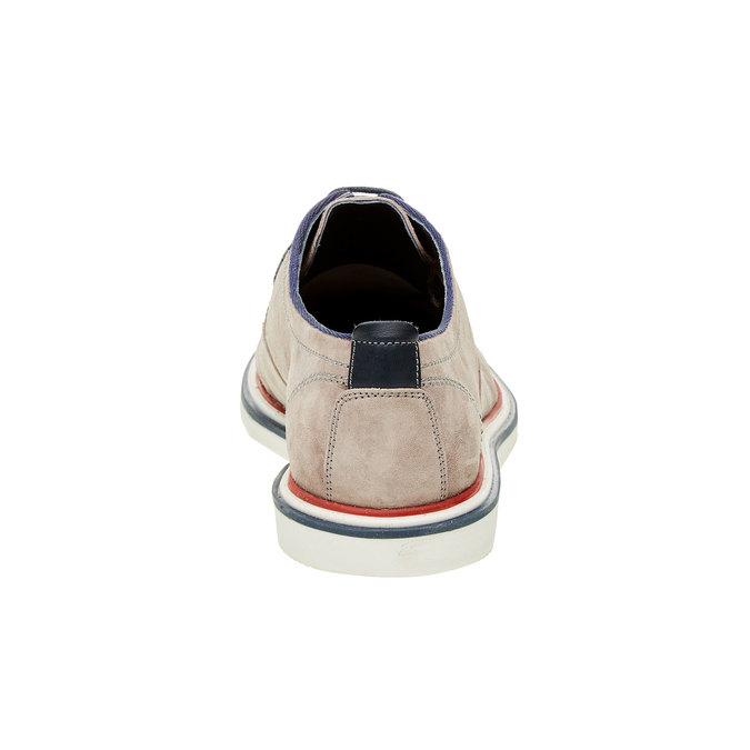 Chaussure lacée en cuir pour homme style Derby bata, Beige, 823-2814 - 17