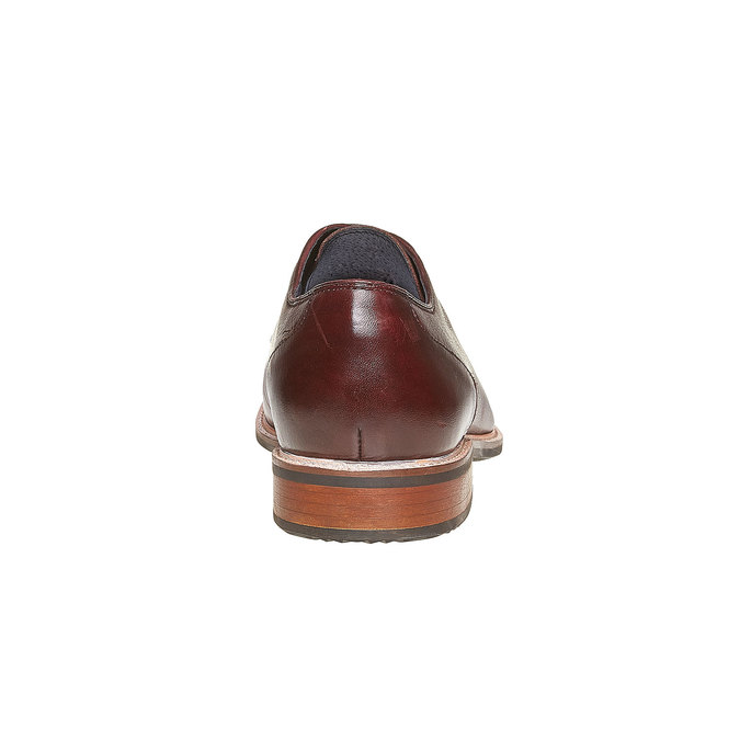 Chaussure lacée Derby en cuir bata, Rouge, 824-5280 - 17