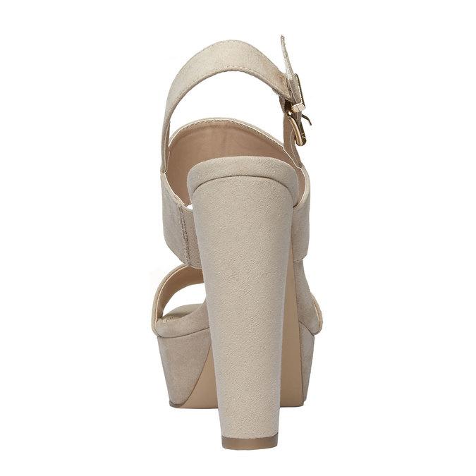 Sandale femme à talon massif bata, Jaune, 769-8541 - 17