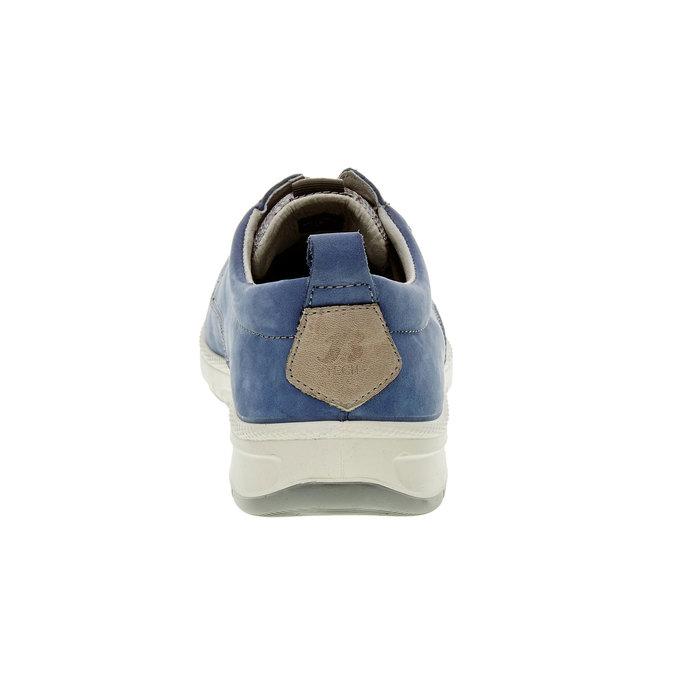 Chaussure lacée décontractée en cuir, Bleu, 843-9630 - 17