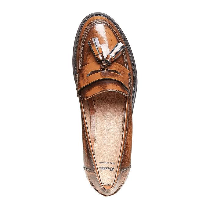 Loafers femme avec houppes bata, Brun, 514-3246 - 19