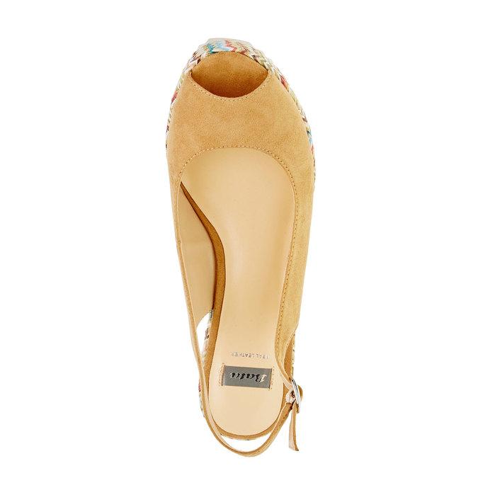 Sandale femme fermée sur les côtés bata, Jaune, 769-8522 - 19