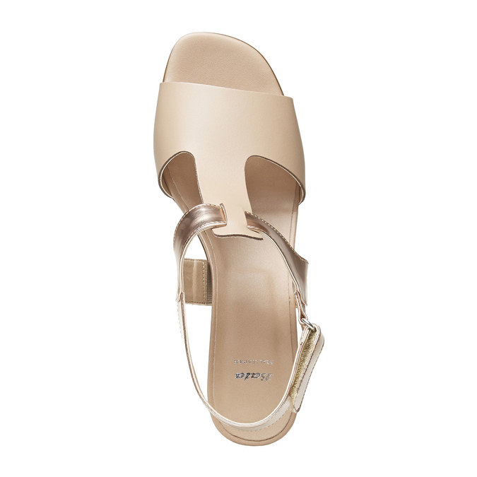 Sandale femme à talon large bata, Jaune, 764-8551 - 19