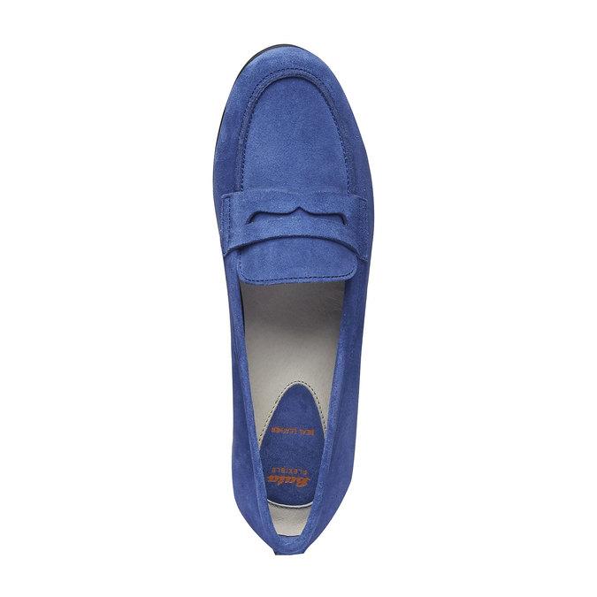 Penny Loafers en cuir flexible, Violet, 513-9196 - 19