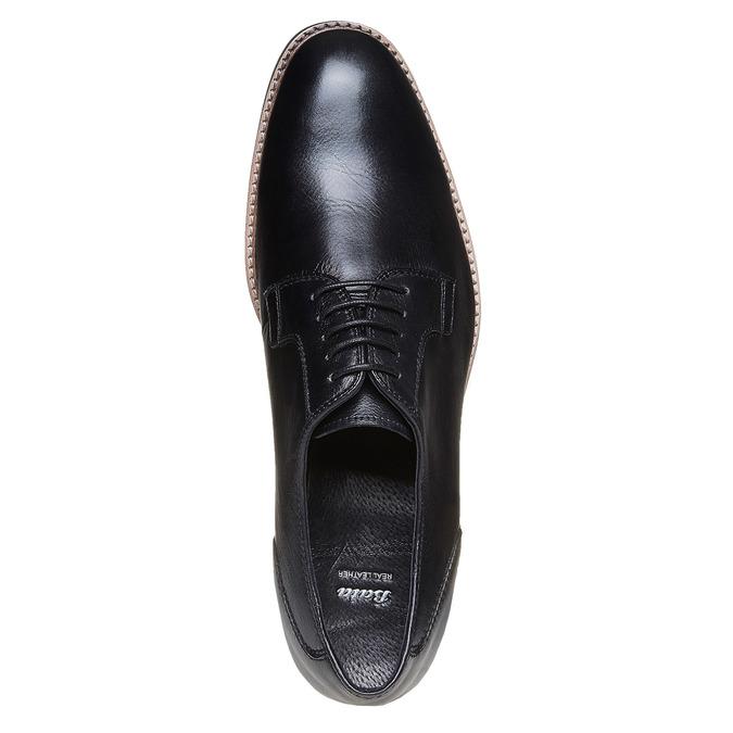 Chaussure lacée en cuir pour homme style Derby bata, Noir, 824-6280 - 19