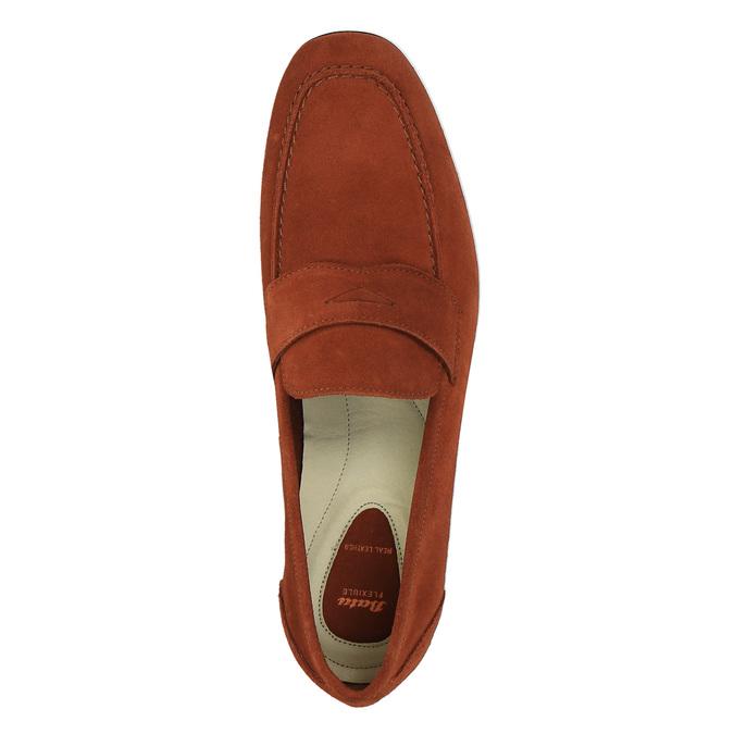 Mocassin en cuir homme flexible, Rouge, 853-5186 - 19