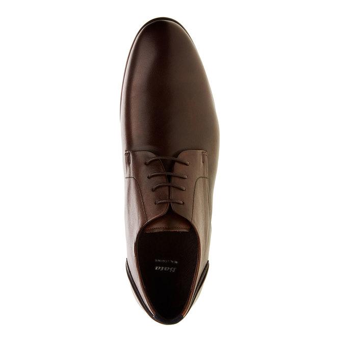 Chaussure lacée Derby en cuir bata, Brun, 824-4538 - 19