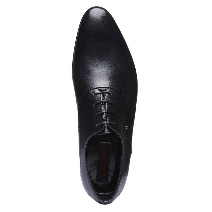 Chaussure lacée en cuir pour homme, Noir, 824-6708 - 19