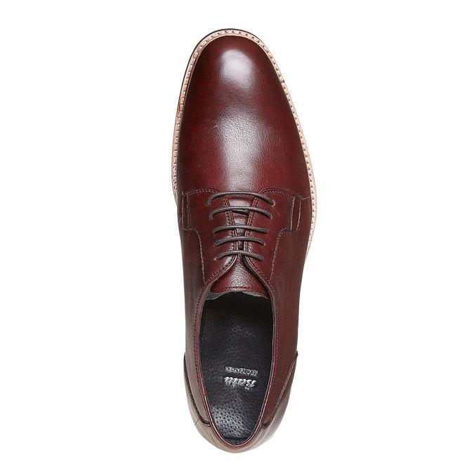 Chaussure lacée Derby en cuir bata, Rouge, 824-5280 - 19