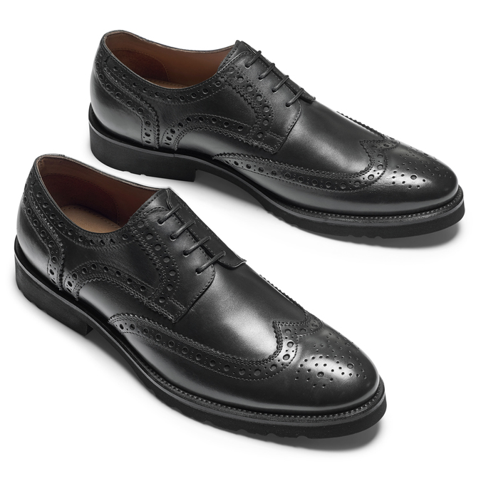 Richelieu cuir Argyll bata-light, Noir, 824-6399 - 19