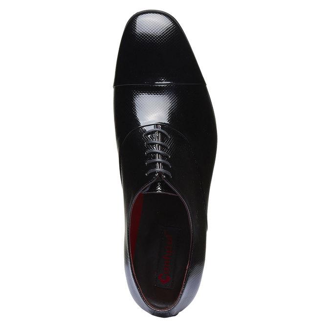 Chaussure lacée en cuir pour homme, Noir, 824-6830 - 19