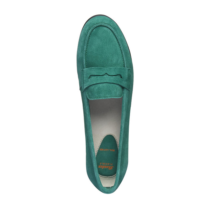 Penny Loafers en cuir flexible, Vert, 513-7196 - 19