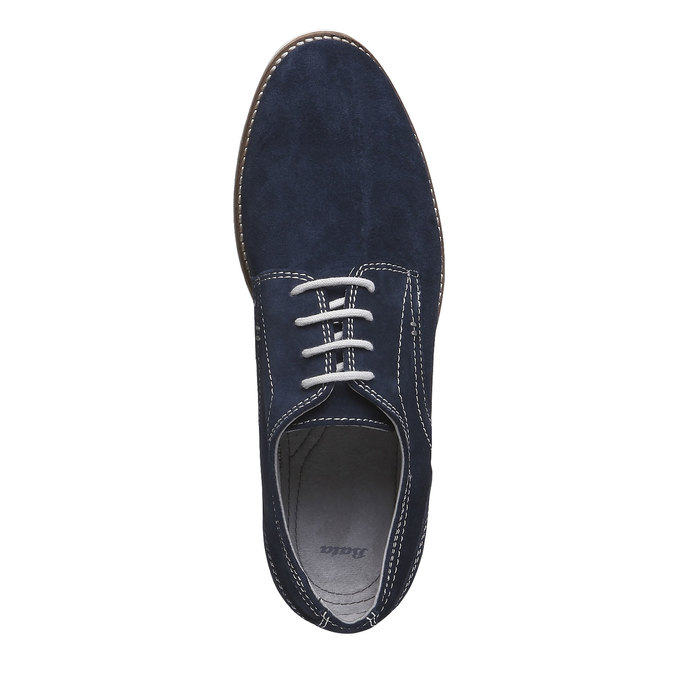 Chaussure lacée Derby en cuir bata, Violet, 823-9558 - 19