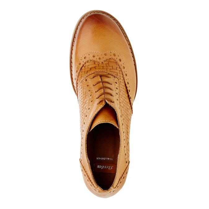 Chaussure à talon en cuir bata, Brun, 624-3386 - 19