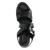Sandale en cuir à talon compensé sundrops, Noir, 564-6400 - 19