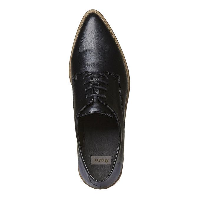 Chaussure basse à semelle épaisse bata, Noir, 521-6480 - 19