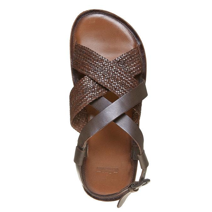 Sandale en cuir homme shoemaker, Brun, 864-4235 - 19