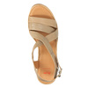 Sandale en cuir femme flexible, Brun, 764-8538 - 19
