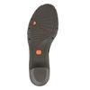 Sandale en cuir femme flexible, Noir, 764-6538 - 26