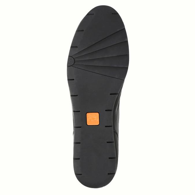 Chaussure lacée en cuir pour femme flexible, Noir, 524-6565 - 26