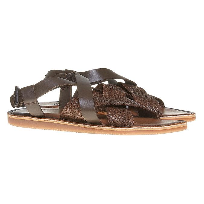 Sandale en cuir homme shoemaker, Brun, 864-4235 - 26