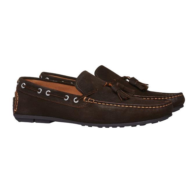 Mocassin à glands en cuir pour homme shoemaker, Brun, 853-4182 - 26
