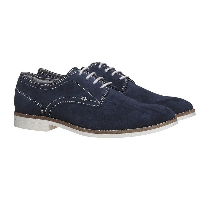 Chaussure lacée Derby en cuir bata, Violet, 823-9558 - 26