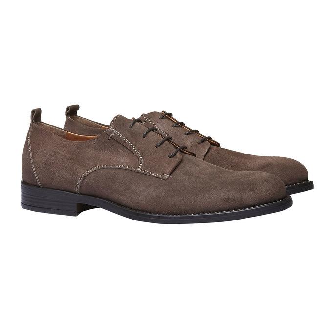 Chaussure lacée Derby en cuir bata, Brun, 823-4807 - 26