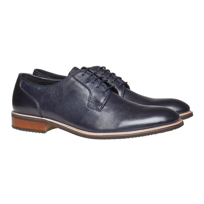 Chaussure en cuir style Derby bata, Violet, 824-9280 - 26