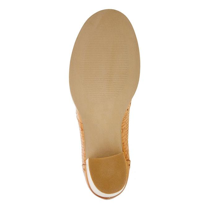 Chaussure à talon en cuir bata, Brun, 624-3386 - 26