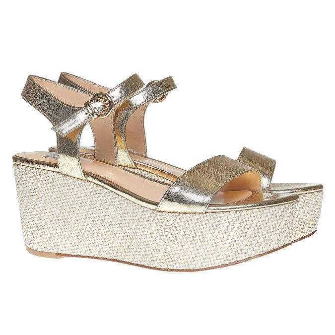 Sandale dorée à plateforme bata, Jaune, 761-8530 - 26