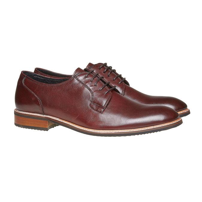 Chaussure lacée Derby en cuir bata, Rouge, 824-5280 - 26